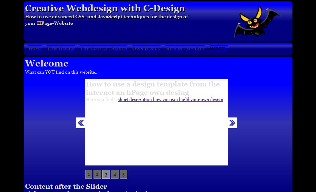 Hauptdesign hPage Website